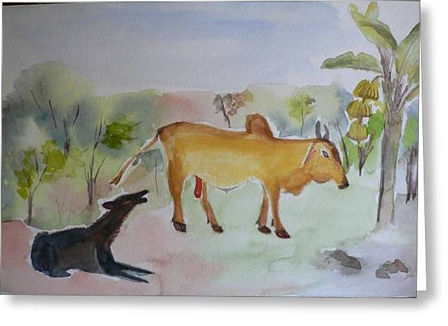 Greeting Card featuring the painting Irresistible  by Geeta Biswas