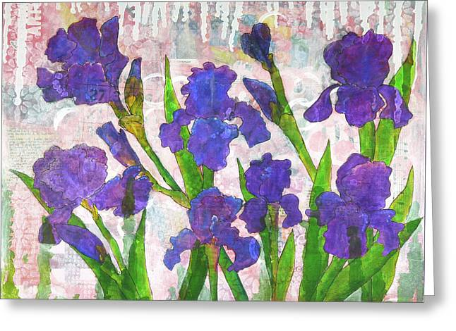Irresistible Irises Greeting Card