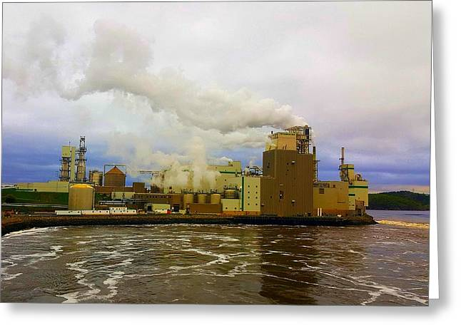 Irving Pulp Mill #3 Greeting Card