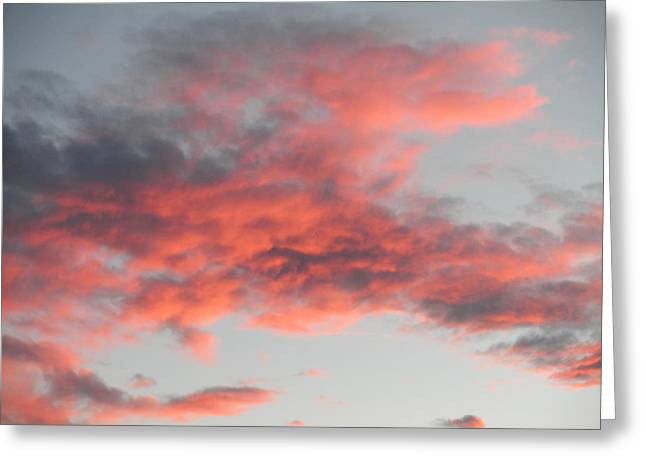 Is He Coming In The Clouds Greeting Card by Jeanette Oberholtzer