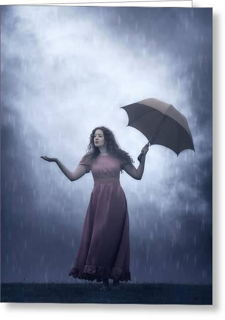 Is It Still Raining? Greeting Card by Joana Kruse
