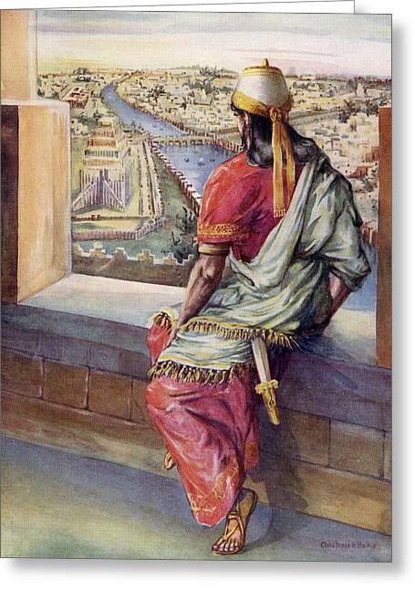 Is Not This Great Babylon That I Have Greeting Card by Vintage Design Pics