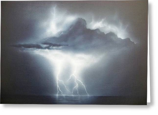 Lightning Strike Paintings Greeting Cards - Is The Sky The Limit Greeting Card by Brett McGrath