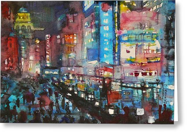 Is There Anything Going On Tonight In Downtown Greeting Card by Dreja Novak