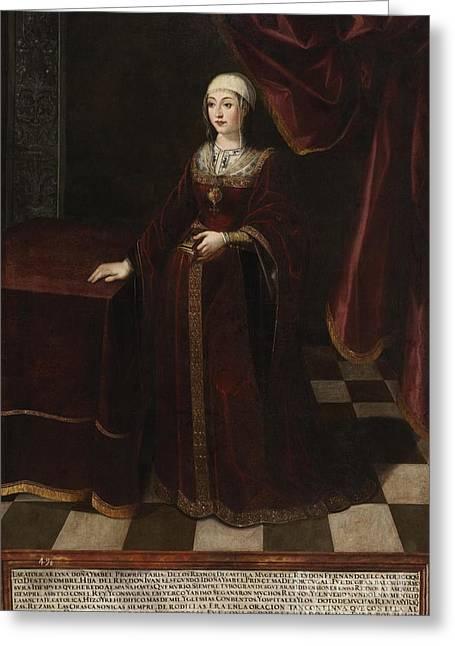 Isabel I De Castilla Greeting Card