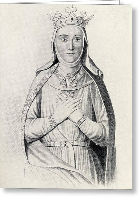 Isabella Of Angouleme 1188 To 1246 Greeting Card by Vintage Design Pics
