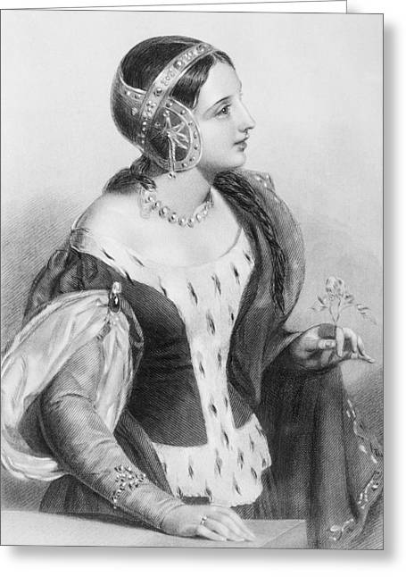Isabella Of France, 1292-1358. Queen Greeting Card by Vintage Design Pics