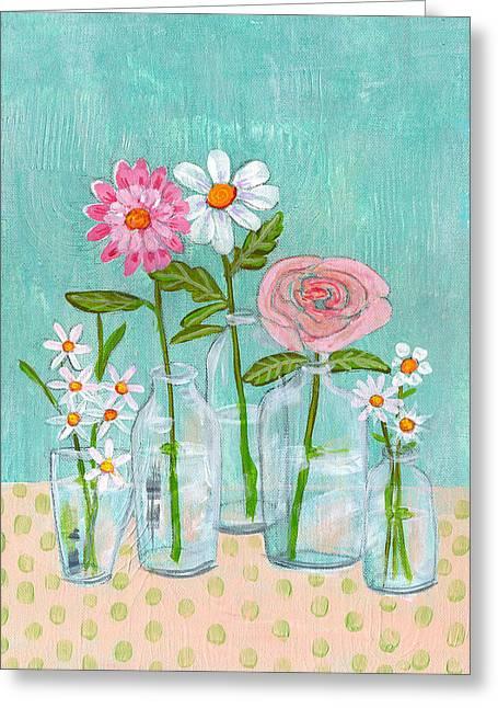 Isabella Rose Flowers Greeting Card by Blenda Studio
