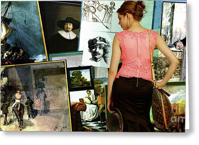 Isabella Stewart Gardner, Art Theft Gallery Greeting Card by Thomas Pollart