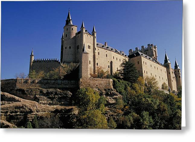 Isabella's Castle In Segovia Greeting Card