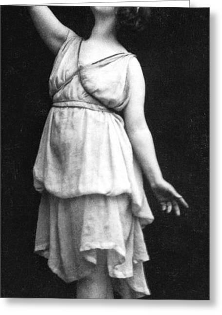 Isadora Duncan Greeting Card by Elvira Studio