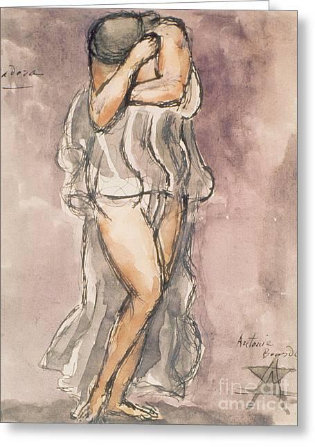 Isadora Duncan Greeting Card by Emile-Antoine Bourdelle