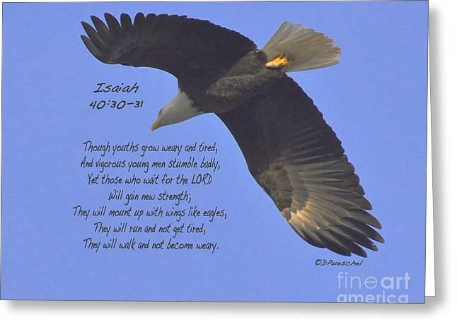Isaiah 40 V 30 And 31 Greeting Card by Debby Pueschel