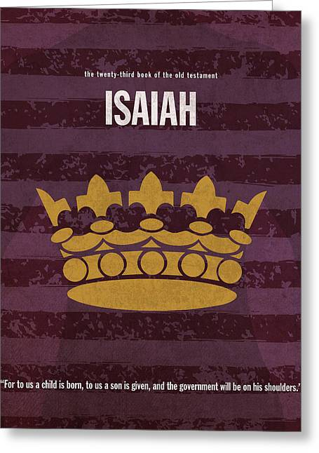 Isaiah Books Of The Bible Series Old Testament Minimal Poster Art Number 23 Greeting Card by Design Turnpike