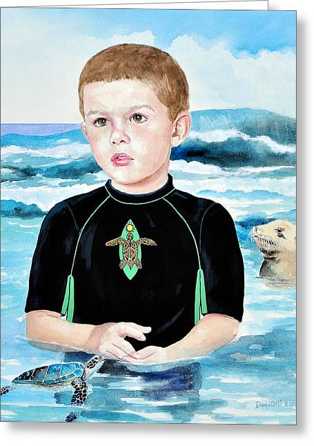 Isaiah Son Of Neptune Greeting Card