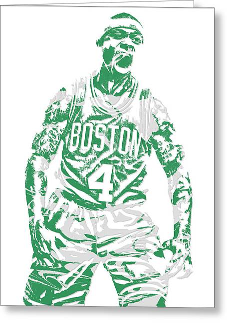 Isaiah Thomas Boston Celtics Pixel Art 16 Greeting Card