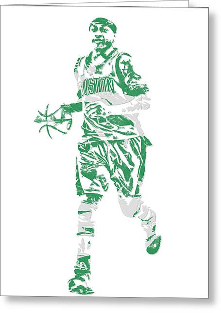 Isaiah Thomas Boston Celtics Pixel Art 17 Greeting Card