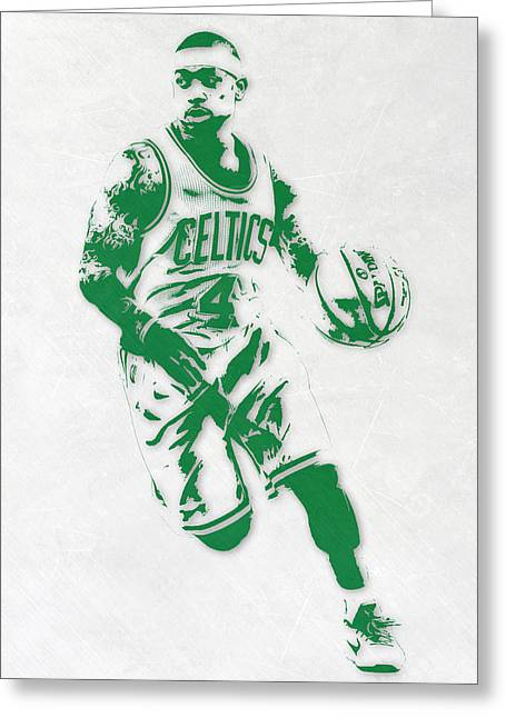 Isaiah Thomas Boston Celtics Pixel Art 2 Greeting Card