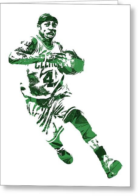 Isaiah Thomas Boston Celtics Pixel Art 5 Greeting Card