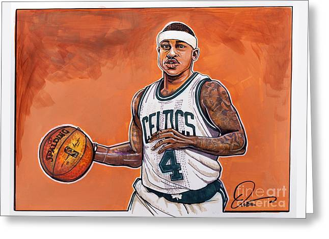 Isaiah Thomas Greeting Card by Dave Olsen