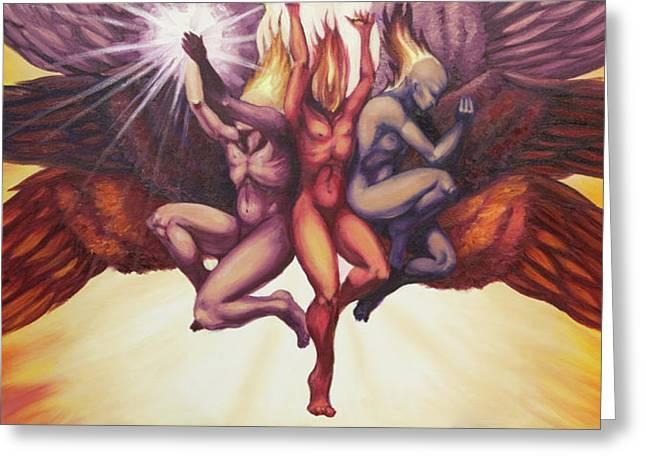 Isaiah's Seraphim Greeting Card by Ida Kendall