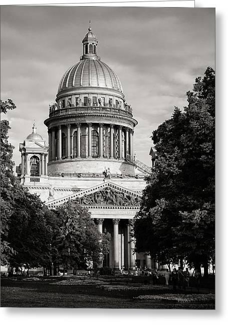 Isakievsky Cathedral Greeting Card by Konstantin Dikovsky