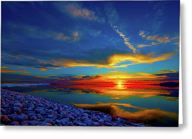 Greeting Card featuring the photograph Isand Sunset by Norman Hall