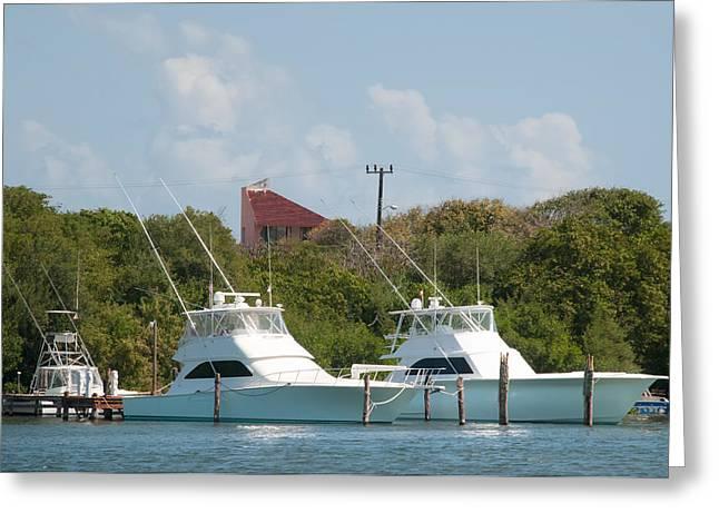 Isla Mujeres Boats Greeting Card