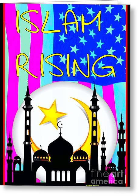Islam Rising Greeting Card by Peter Gumaer Ogden