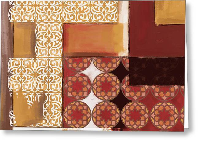 Islamic Motif I 440 4 Greeting Card by Mawra Tahreem