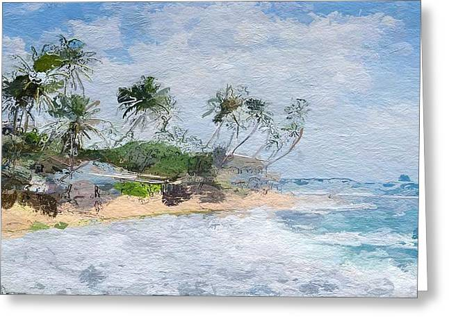 Island Abstract  Greeting Card by Anthony Fishburne