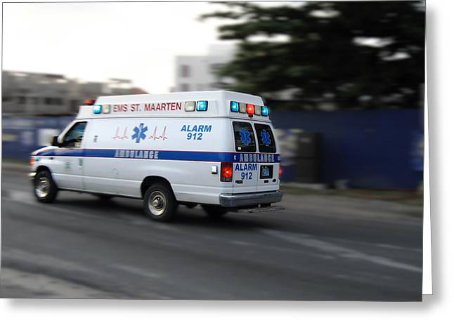 Island Ambulance Greeting Card