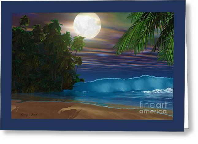 Island Beach Greeting Card by Corey Ford