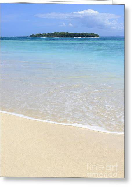 Island Beach Greeting Card