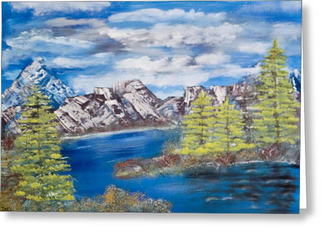 Island Cove Greeting Card by Mikki Alhart