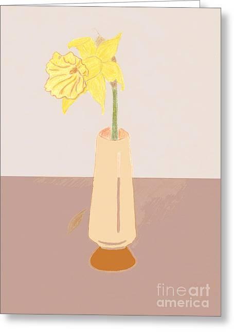 Island Daffodil Greeting Card