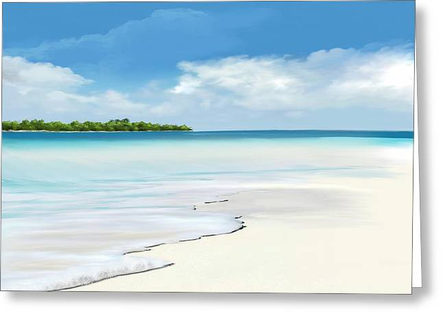 Island Dream Greeting Card by Anthony Fishburne