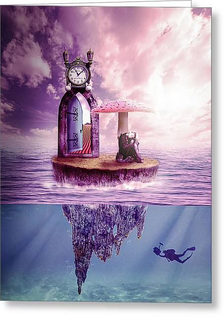 Greeting Card featuring the digital art Island Dreaming by Nathan Wright
