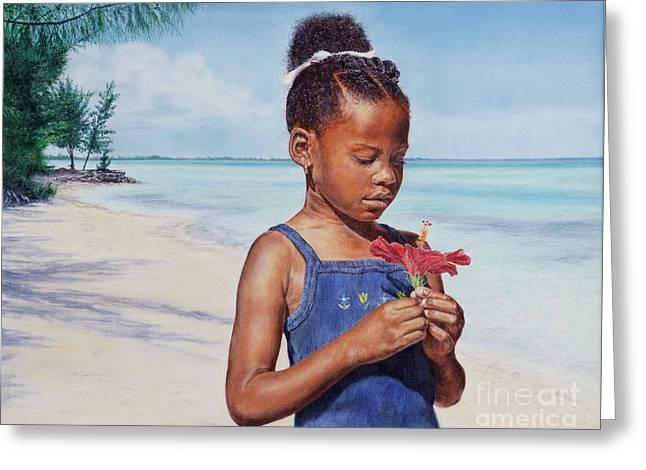 Island Flowers Greeting Card