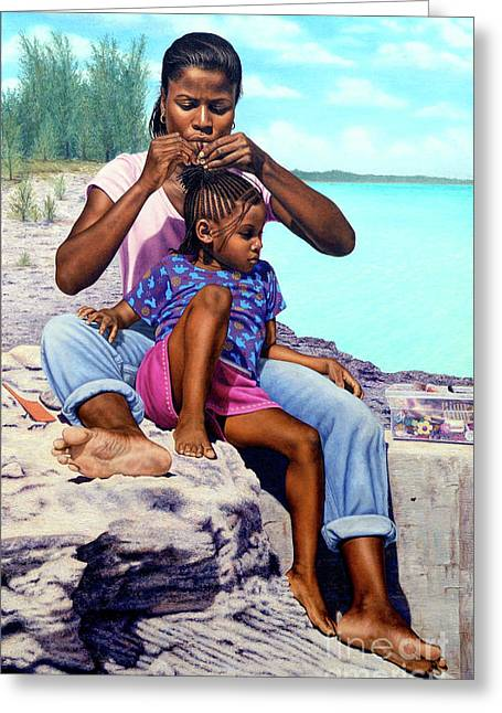 Island Girls II Greeting Card