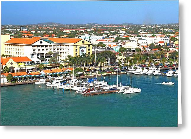 Greeting Card featuring the photograph Island Harbor by Gary Wonning