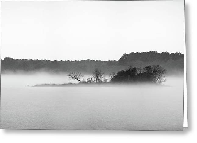 Greeting Card featuring the photograph Island In The Fog by Todd Aaron