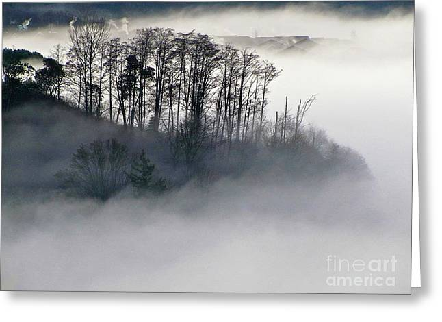 Island In The Morning Mist Greeting Card