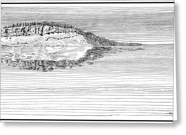Island In Time Greeting Card by Jack Pumphrey
