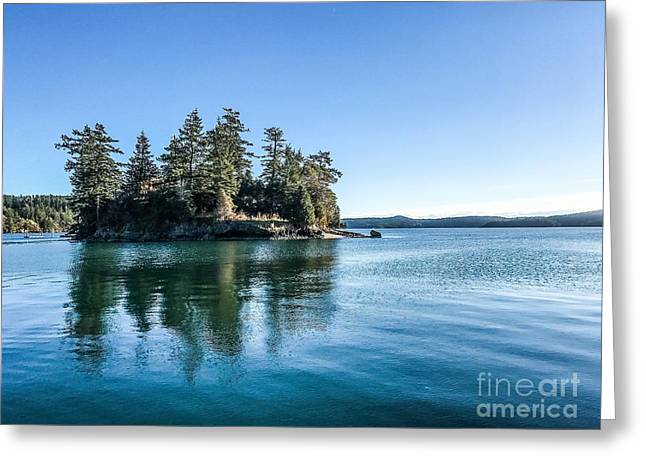 Island In West Sound Greeting Card