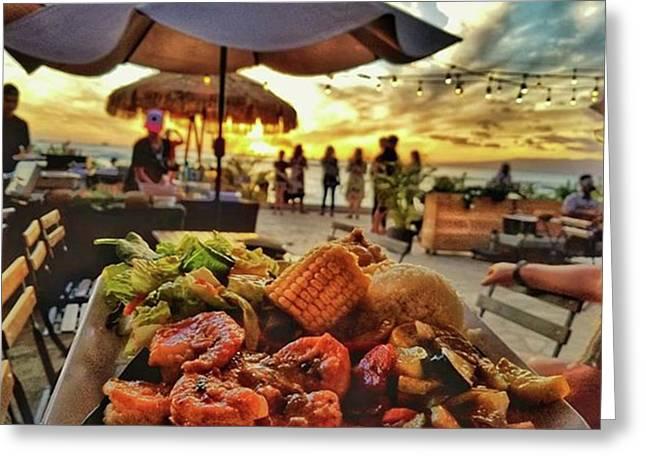 Island Inspired Garlic Shrimp!! This Greeting Card