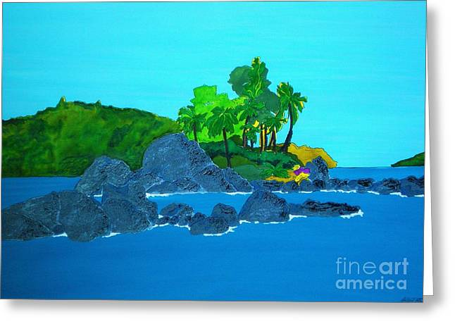 Island Greeting Card by Michaela Bautz
