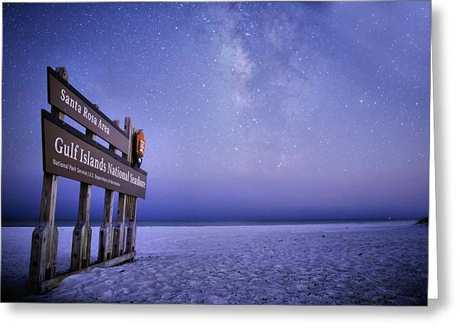 Island Nights Greeting Card by JC Findley