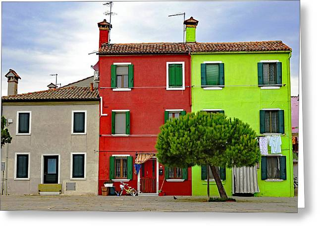 Island Of Burano Tranquility Greeting Card