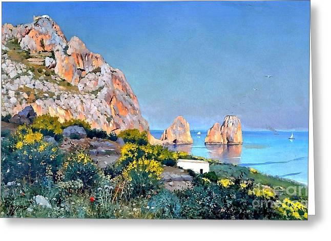 Island Of Capri - Gulf Of Naples Greeting Card